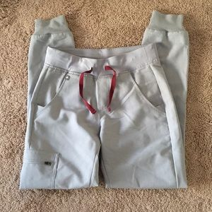 Great condition figs joggers cement color